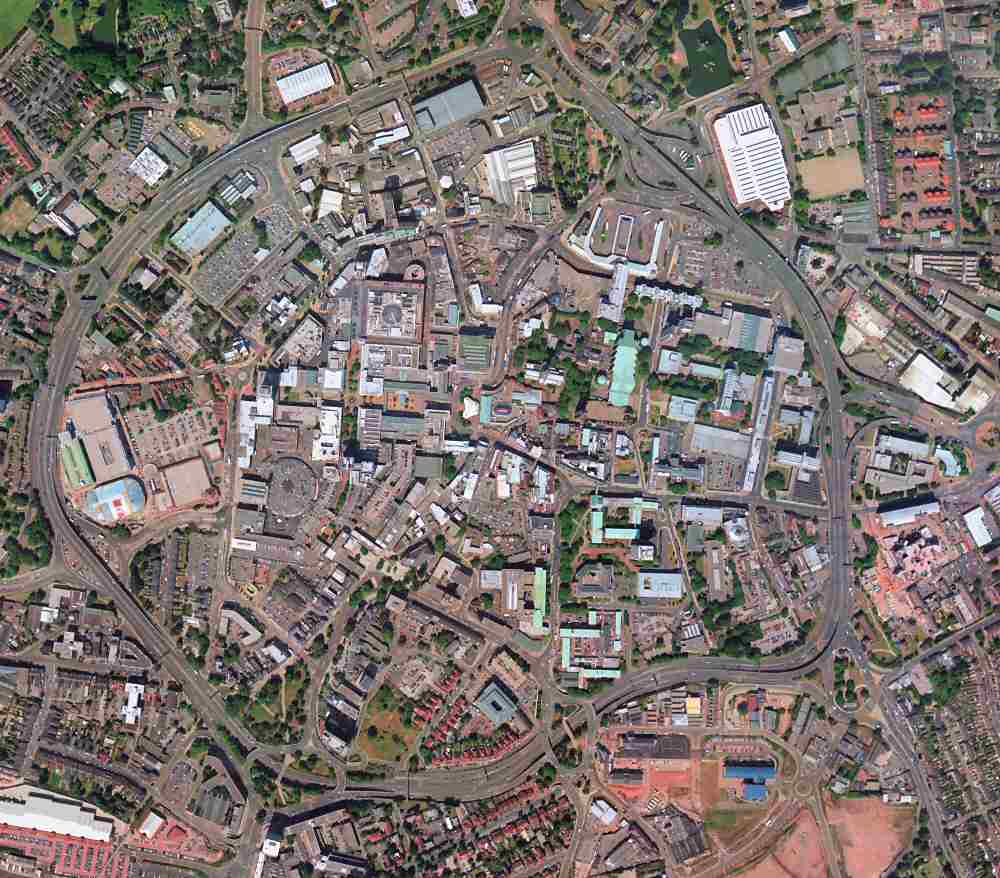 An aerial view of Coventry