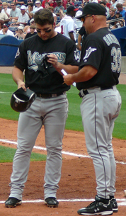 Dan Uggla (left) and Fredi González (right), both former Marlins, came to the Braves organization for 2011.