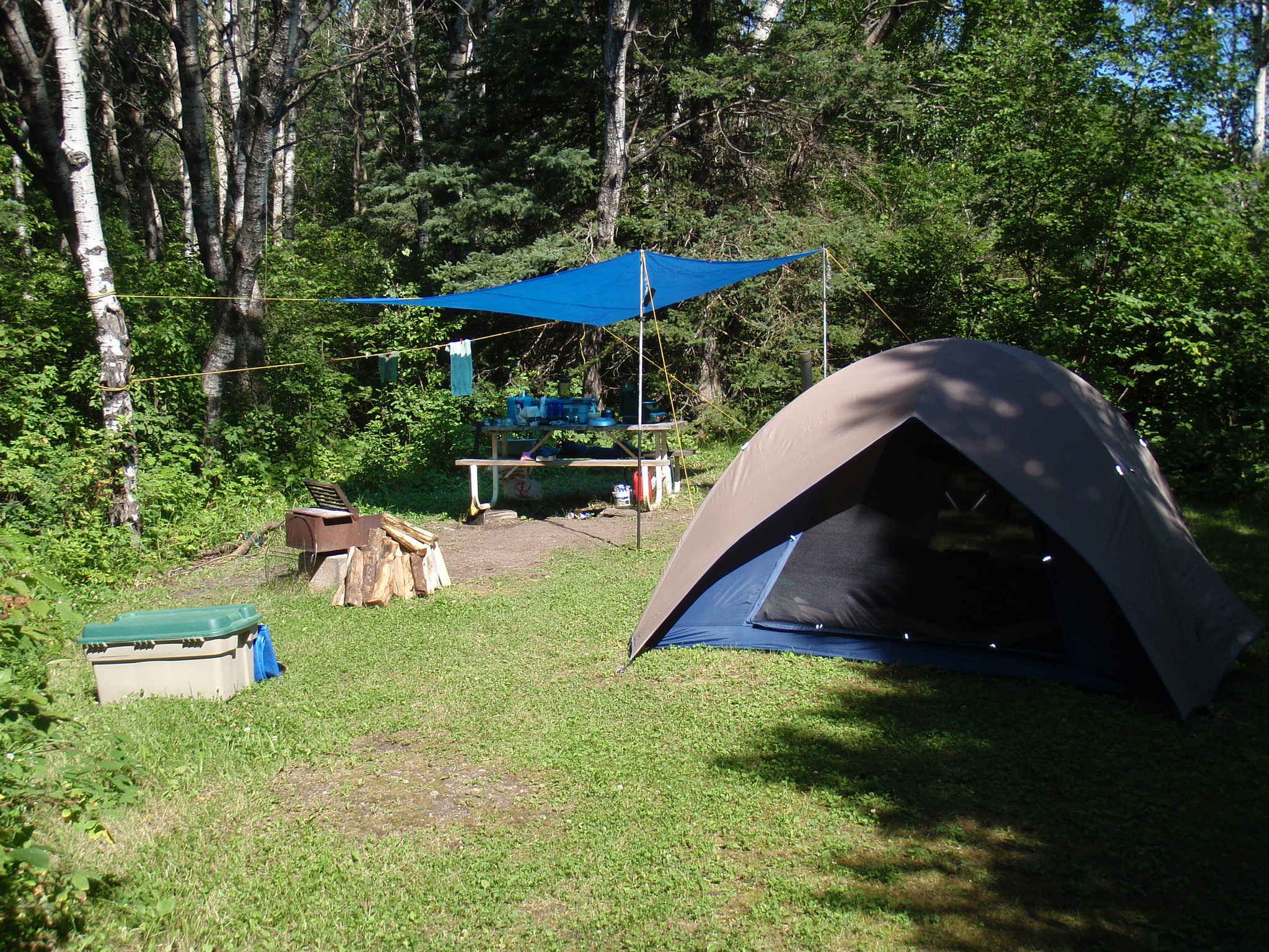 Camping Sites In Middle Of River In Island