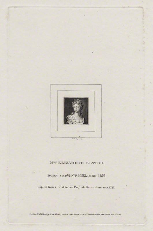 Elizabeth Elstob by [[Burnet Reading