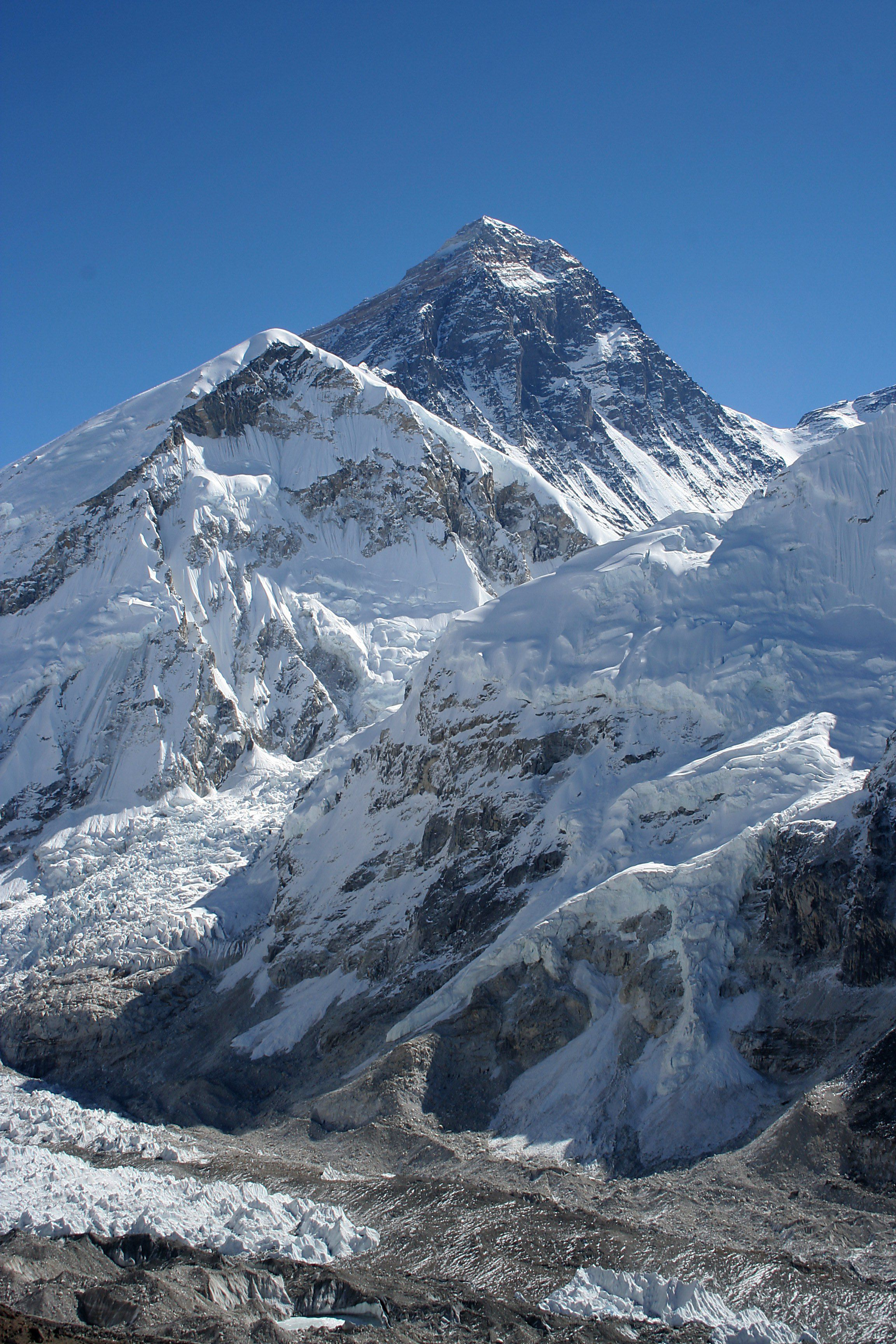 Photograph: Mount Everest seen from Mount Kala Patthar in Nepal. Photo credit: Pavel Novák (original license, of the photo only, obtained at: http:/creativecommons.org/licenses/by-sa/2.5/deed.en), via Wikimedia Commons.