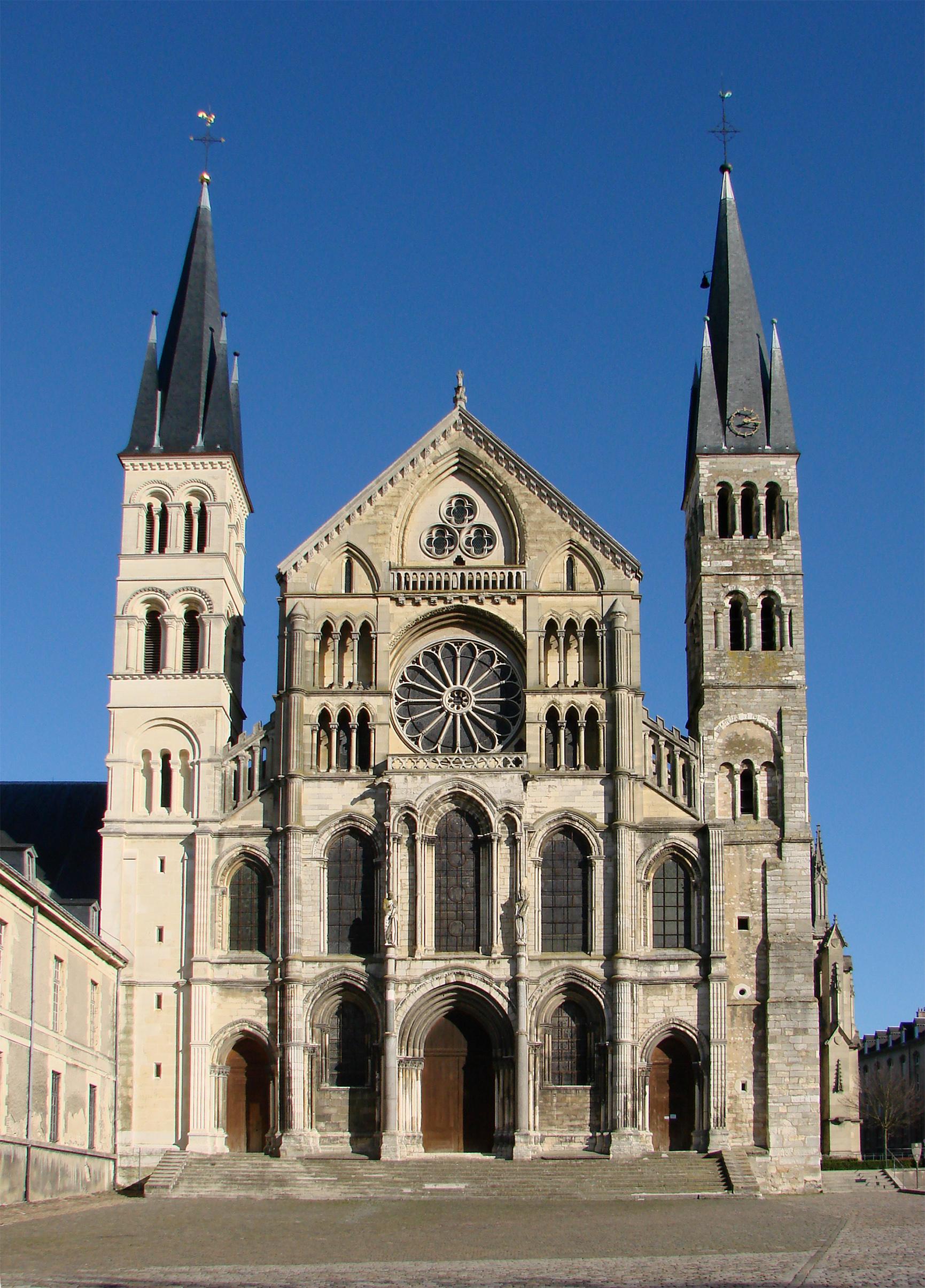 File fa ade basilique saint remi reims wikimedia commons - Basilique st remi reims ...