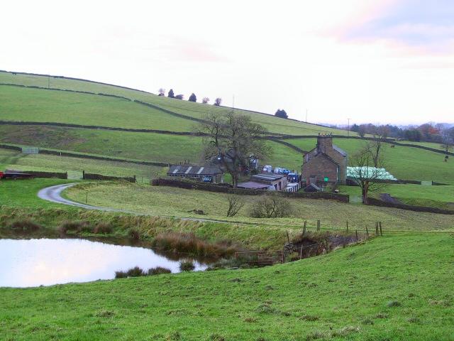 Farm at Longshaw Clough - geograph.org.uk - 86859