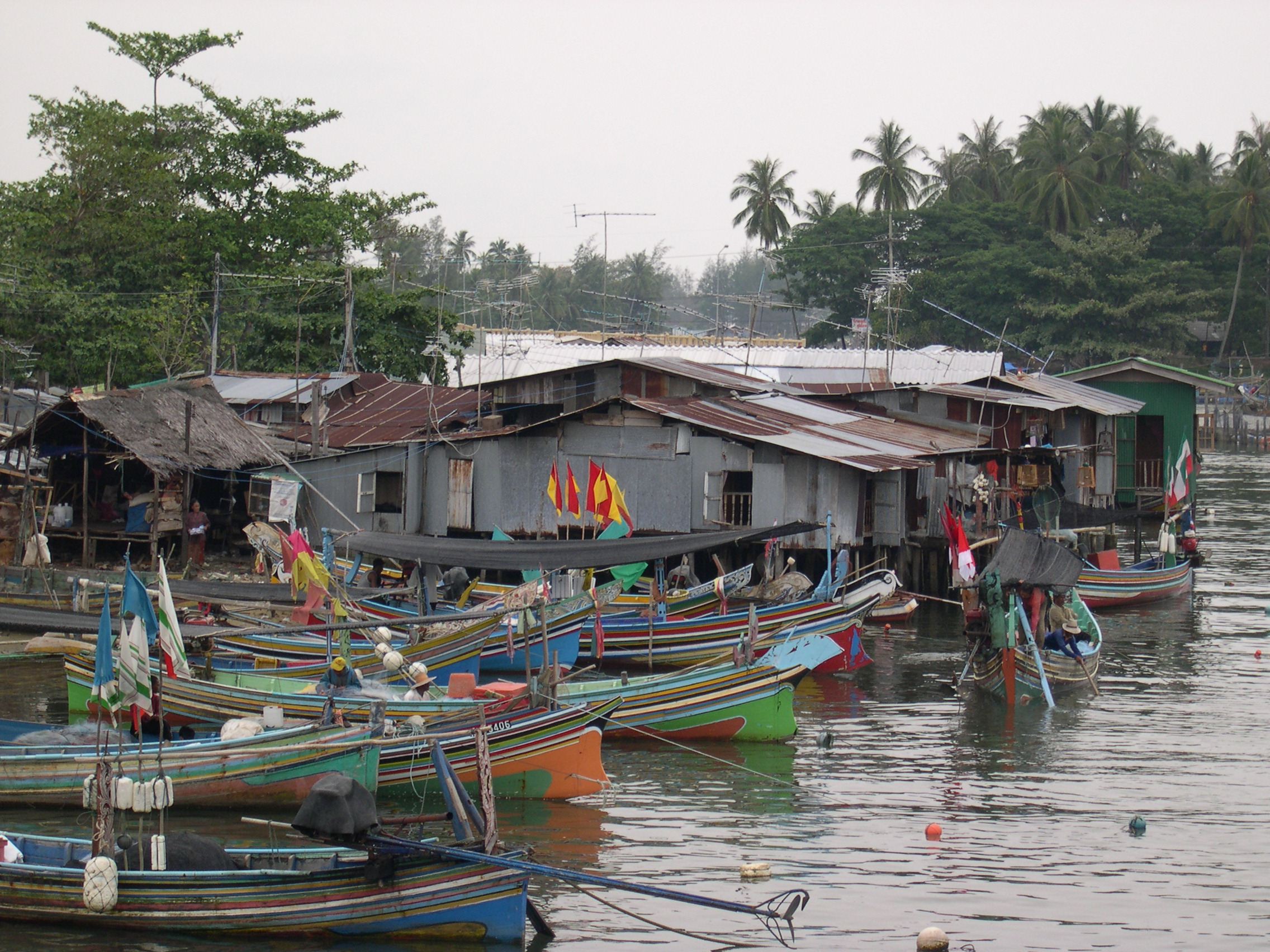 Narathiwat Thailand  city pictures gallery : Fishing Village in Narathiwat. Amphoe Sungai Padi, Thailand