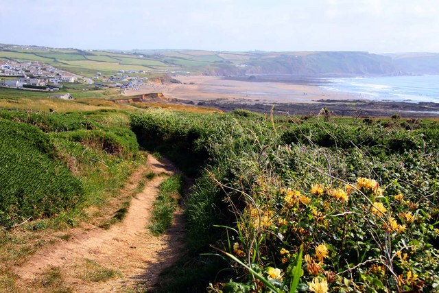 Footpath to Widemouth Bay - geograph.org.uk - 1460008