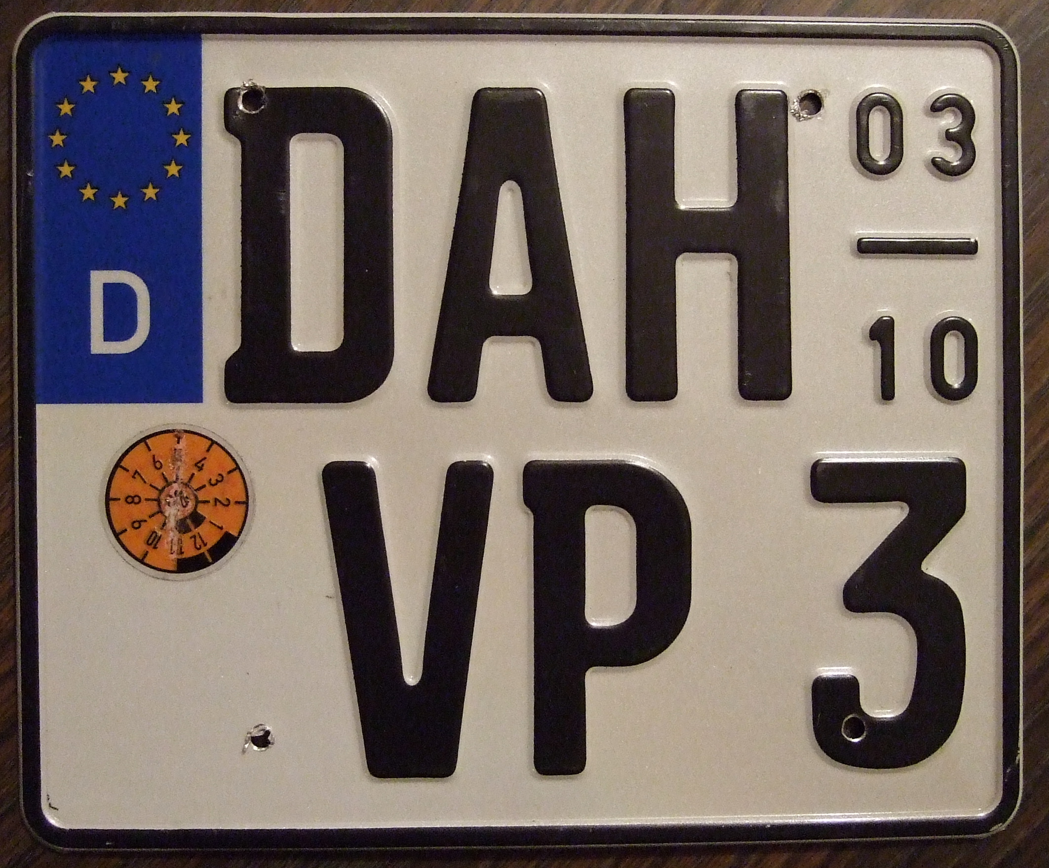 Motorcycle Registration Number