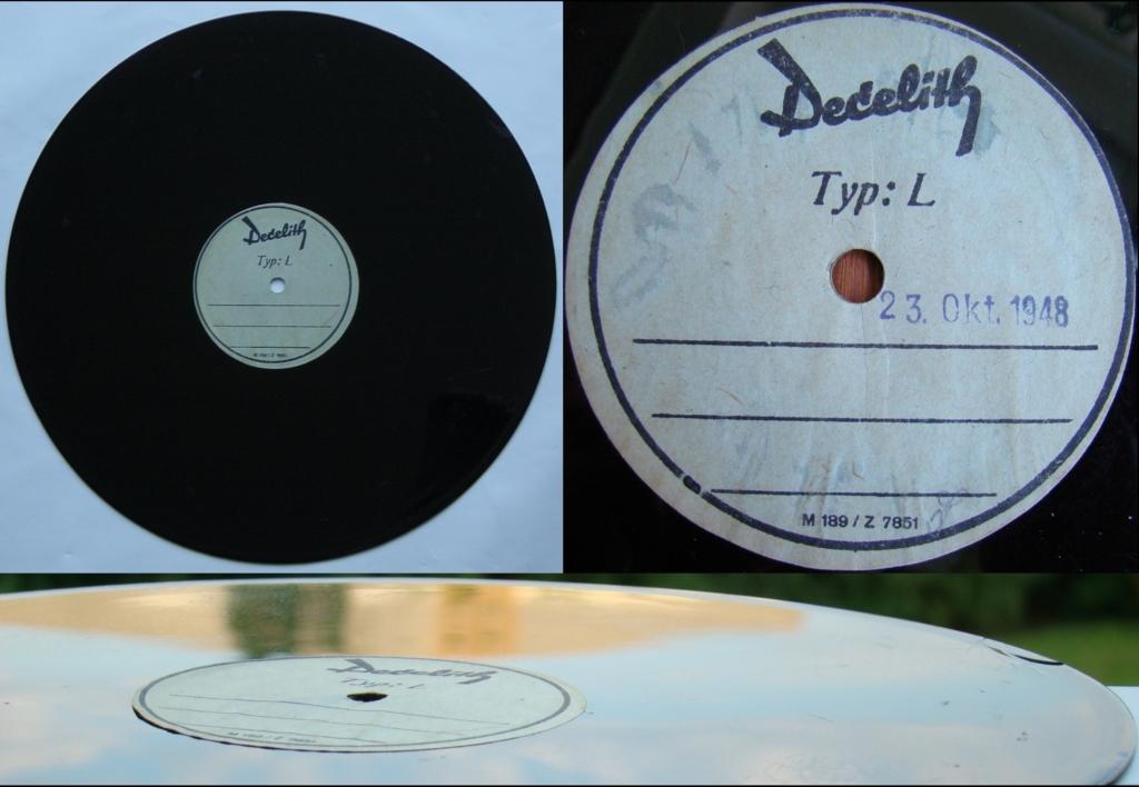 Rohling aus Decelith für eigene Tonaufnahmen, Ø25cm, vor1948