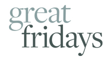 The corporate brand and logo for great fridays ltd