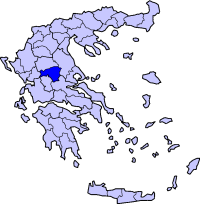 Location of 卡爾季察 Prefecture in Greece