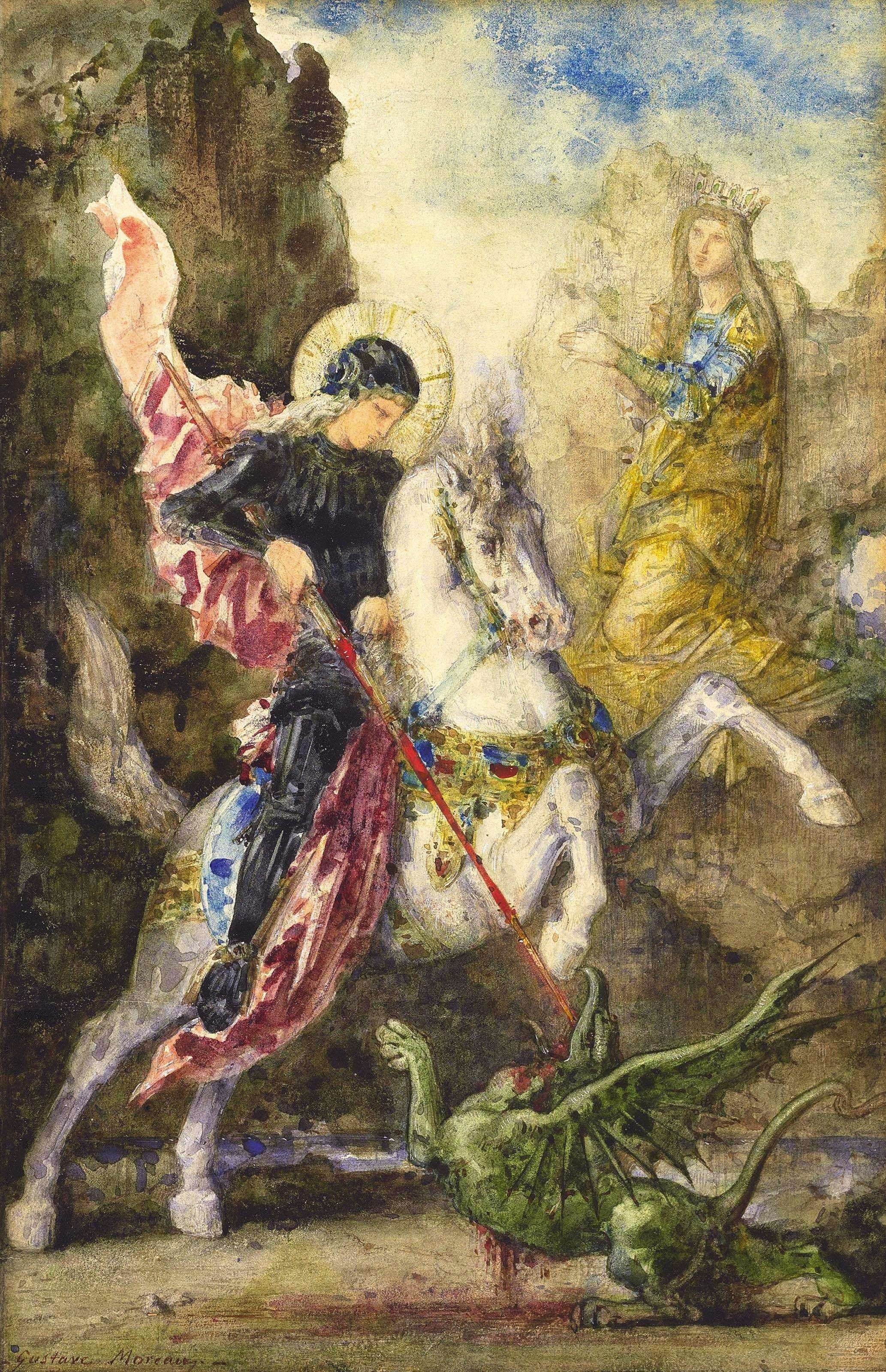 File:Gustave Moreau - Saint-Georges et le dragon (c.1869).jpg - Wikimedia  Commons