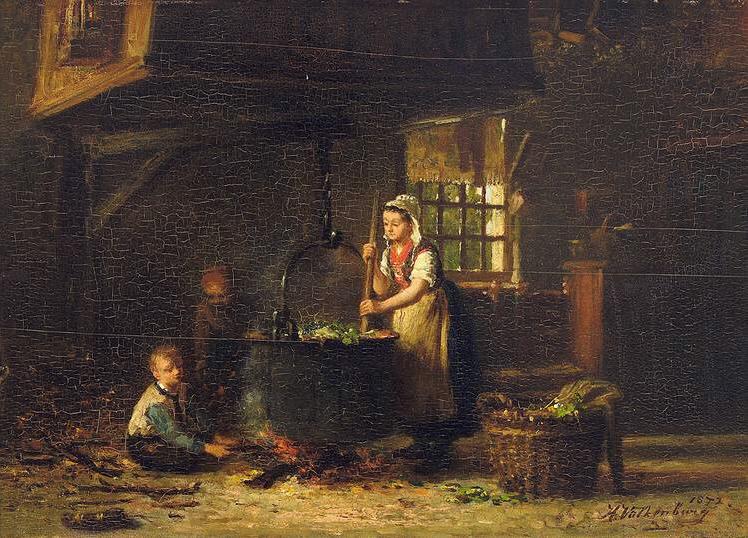 File:Hendrik Valkenburg Old Kitchen 1872.jpg
