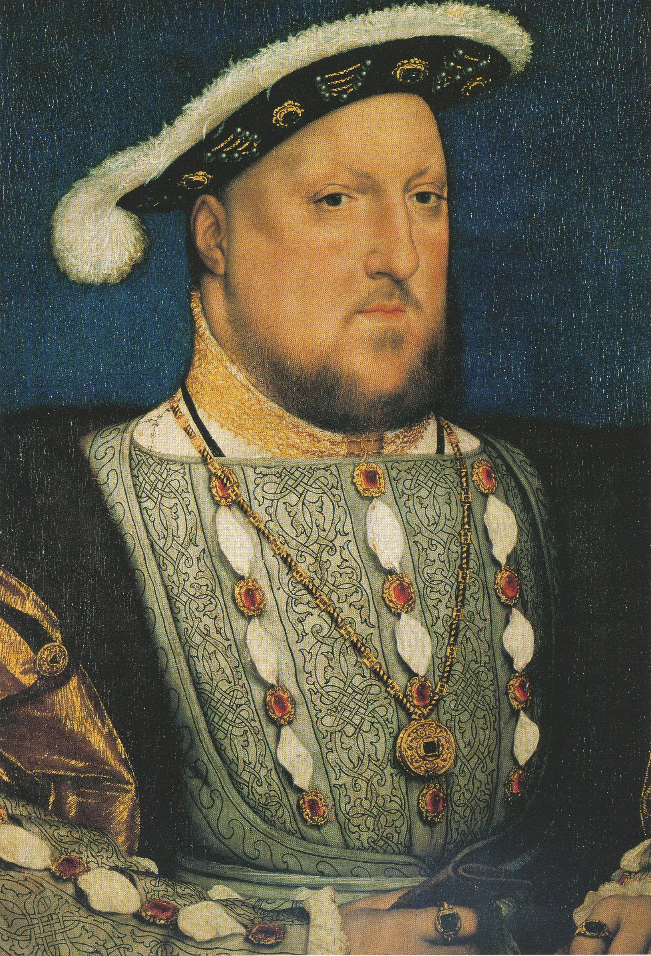 File:Henry VIII of England, by Hans Holbein the Younger.jpg ...
