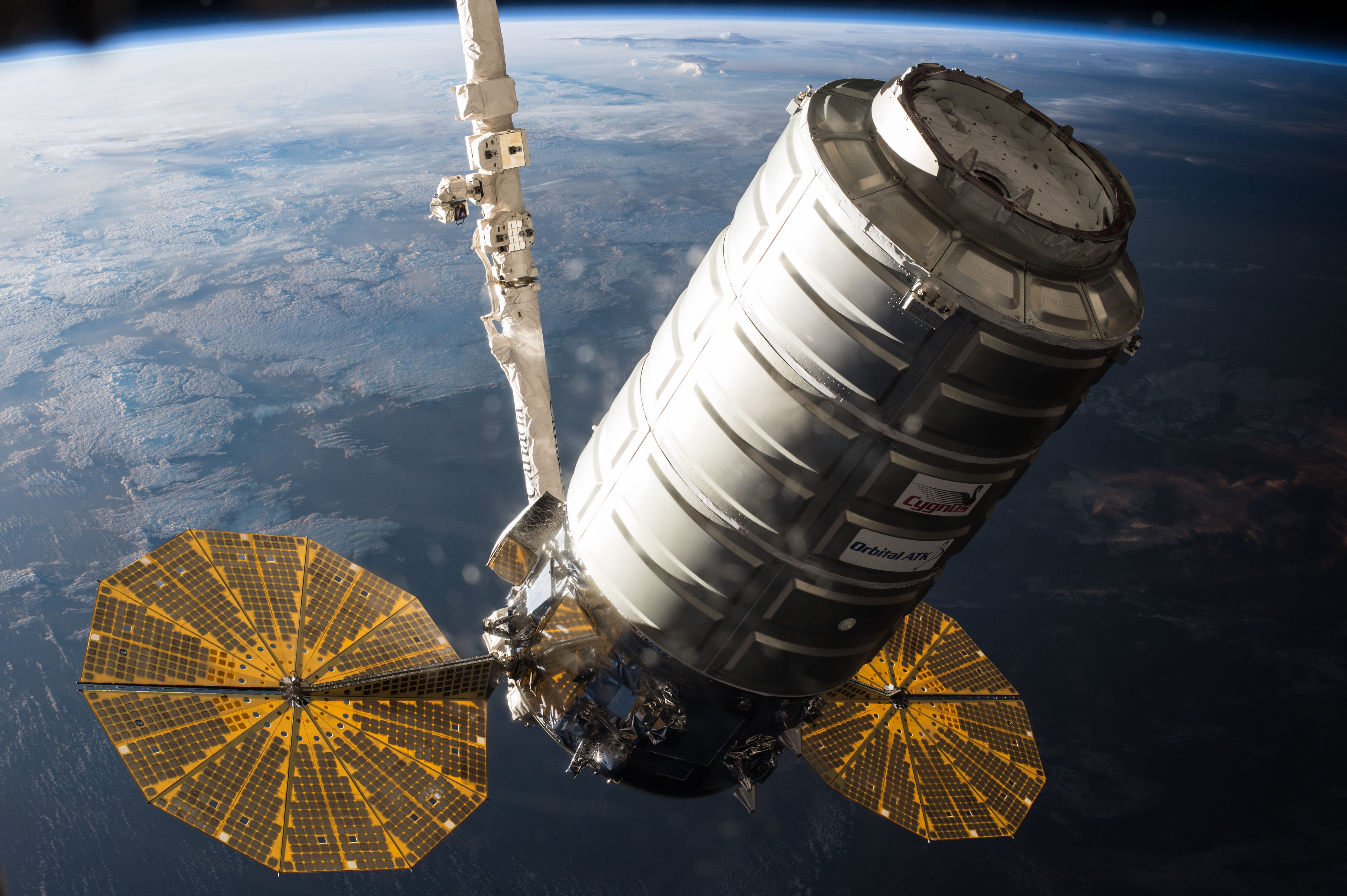 A payload in space.