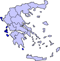 Location of Kapuloan Ionian Periphery in Greece