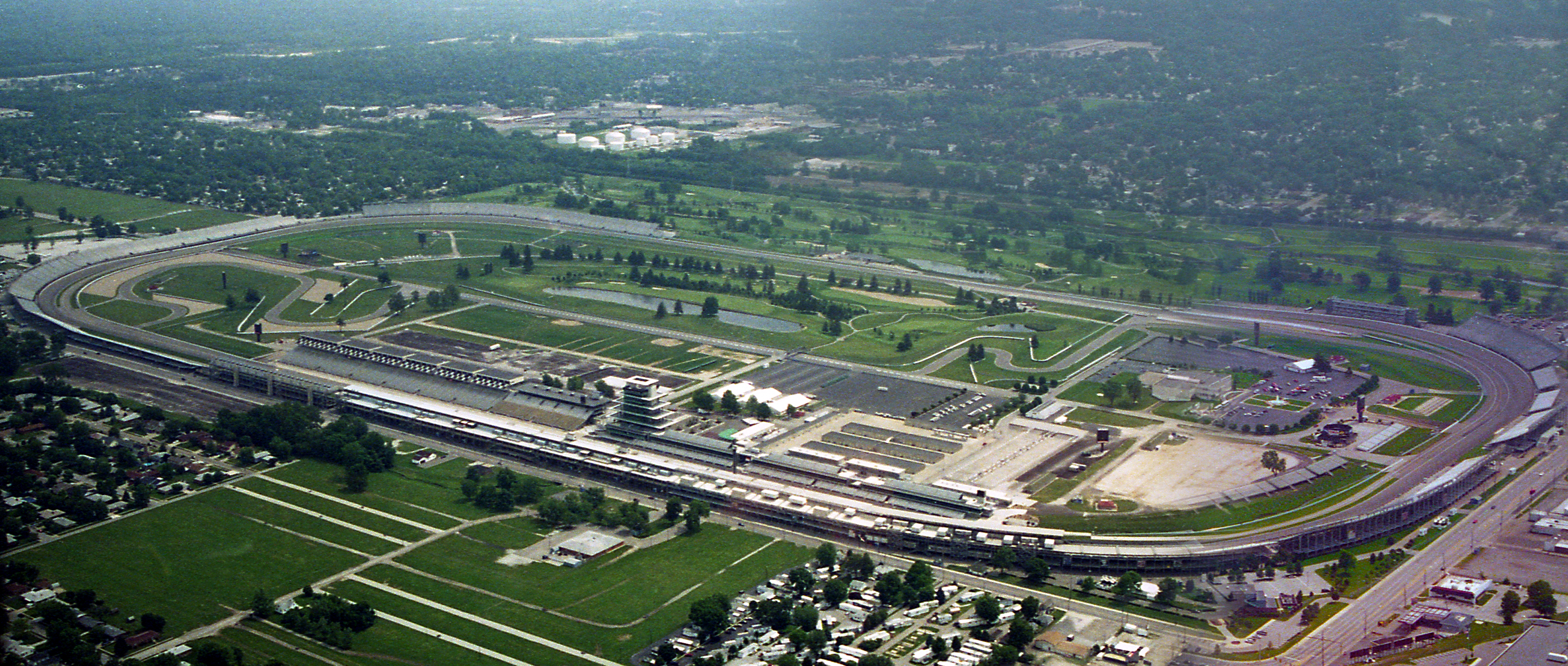 Depiction of Indianapolis Motor Speedway