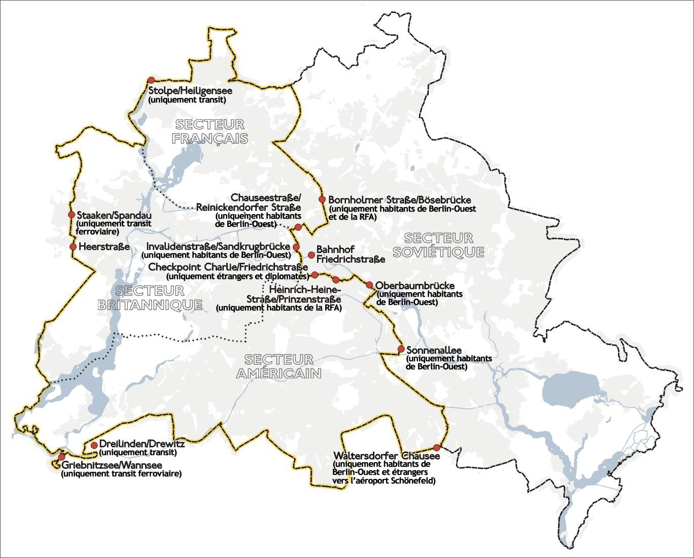 carte mur de berlin File:Karte berliner mauer fr.png   Wikimedia Commons