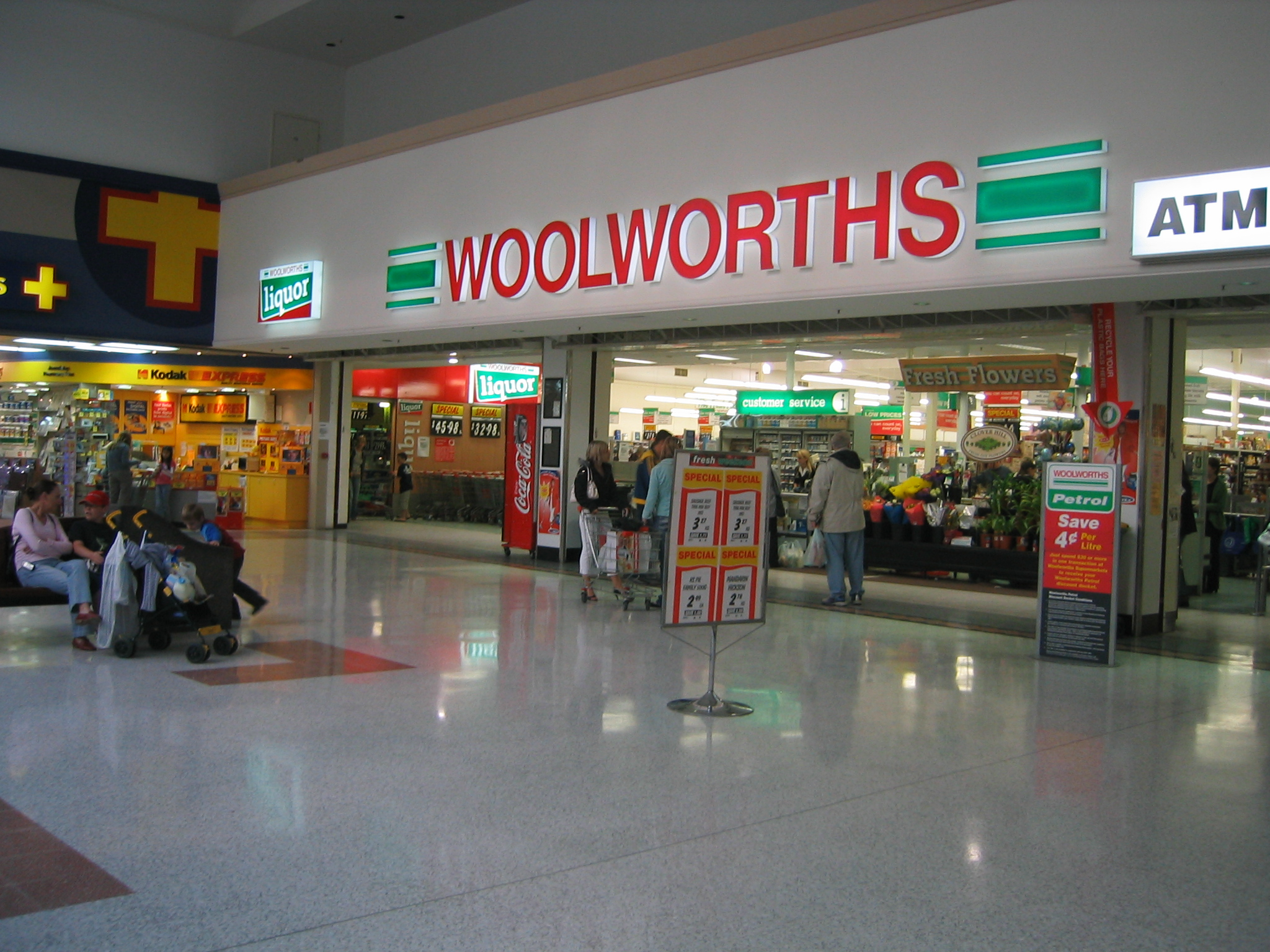 supermarket and woolworth