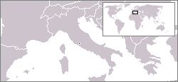 Location of Vatican City