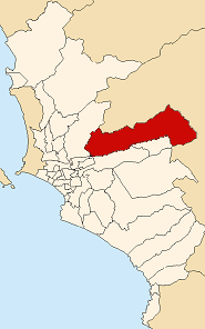 Location of Lurigancho-Chosica in the Lima province