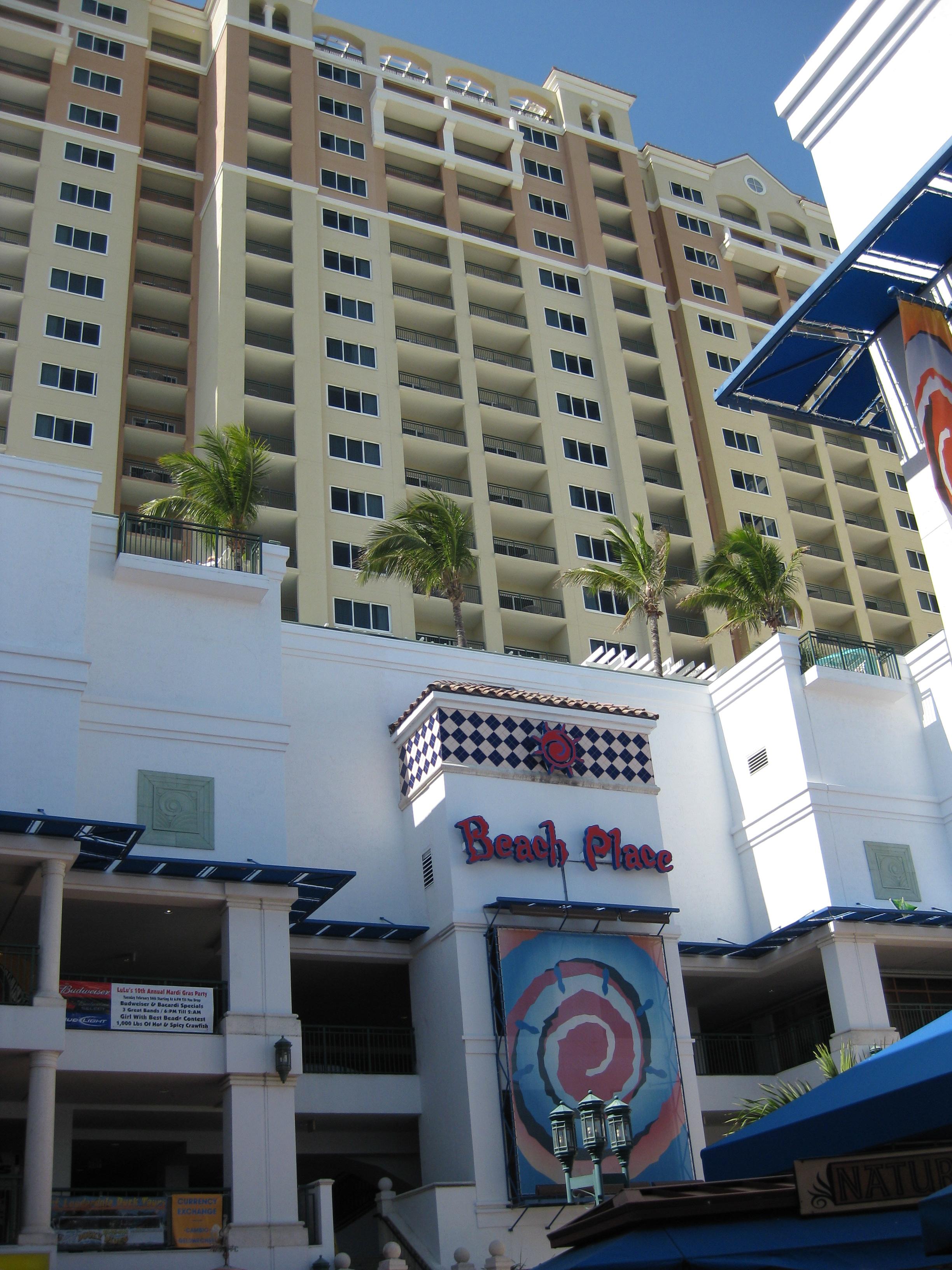 Marriott Beach Place Parking