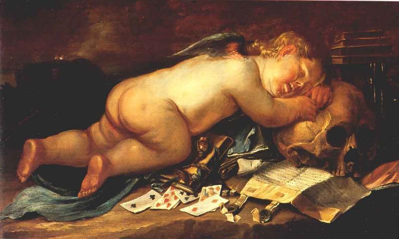 File:Moninckx, Pieter - L'Amour endormi sur un crane.jpg