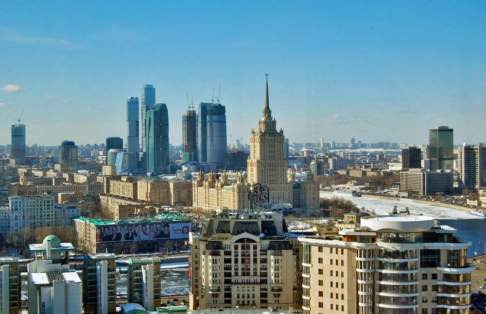 Beschreibung moscow-city skyline