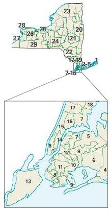 New York: Congressional constituencies