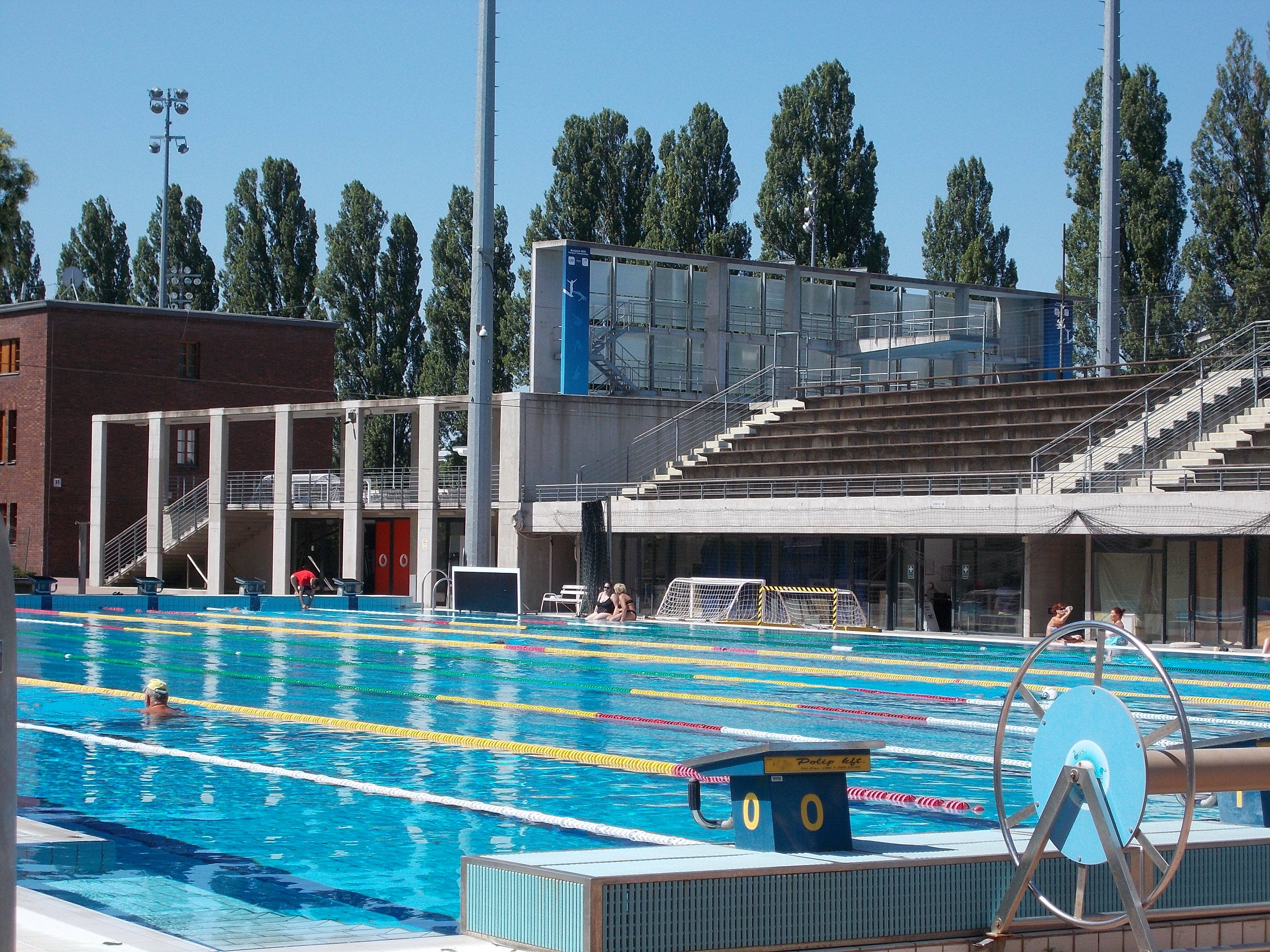 File national swimming pool northern part big swimming - Margaret island budapest swimming pool ...
