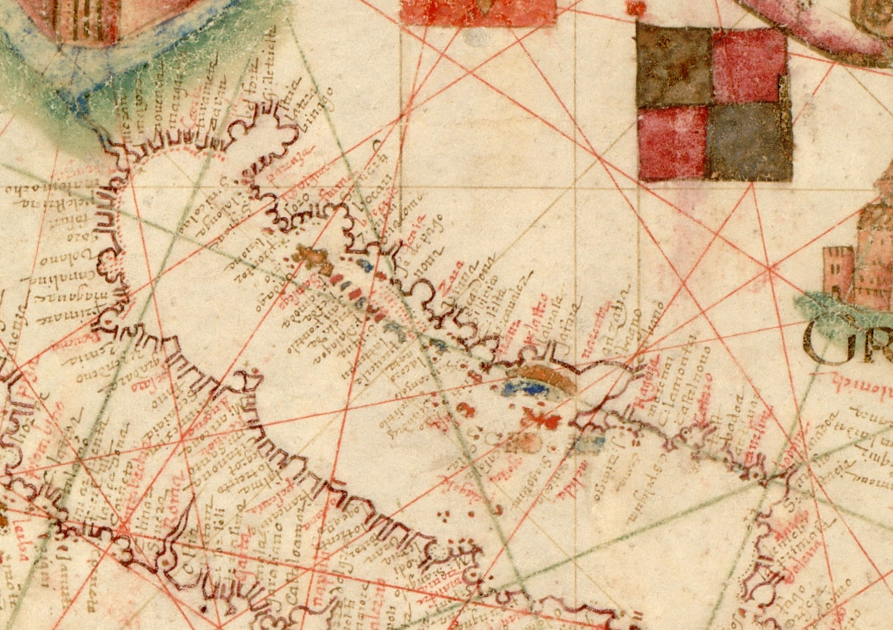 Smith Chart Open: Nautical chart of Mediterranean area including Europe with ,Chart