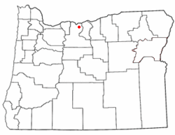 Location of Boyd, Oregon