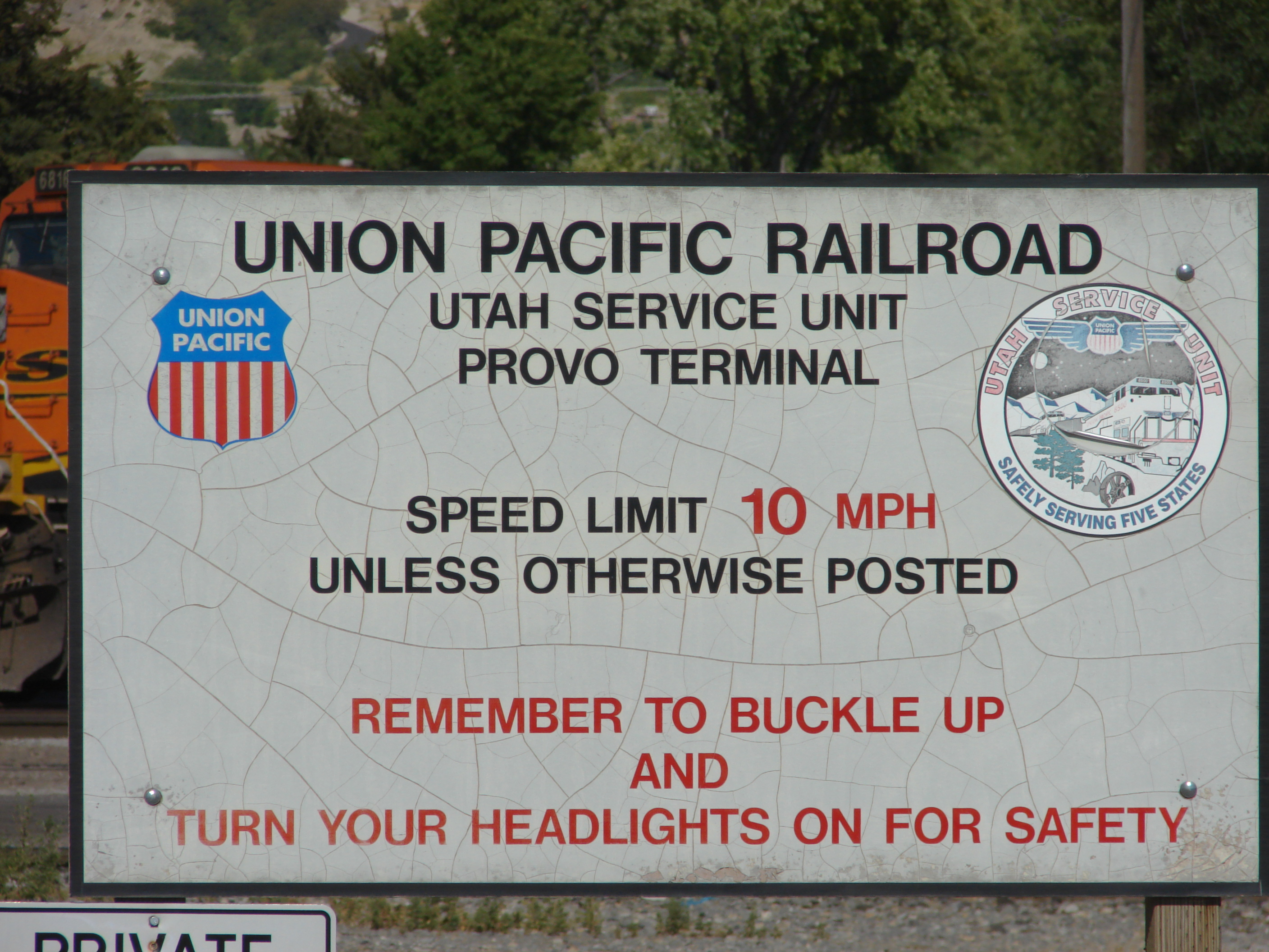 File:Old sign for the Union Pacific Provo Yard, Jul 15 jpg