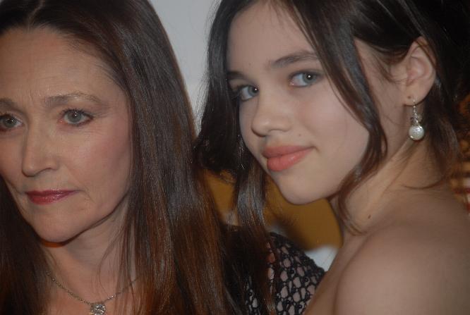 File:Olivia Hussey, India Eisley at Cinema City Film ...