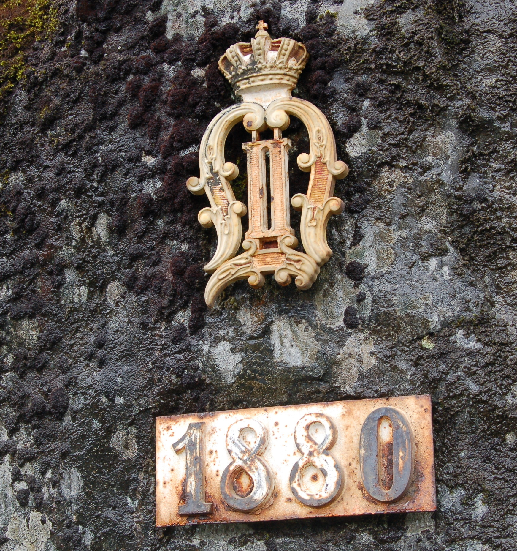 Arnstein Rønning: Oscar II's monogram between Kongsberg and Svene (August 20, 2009