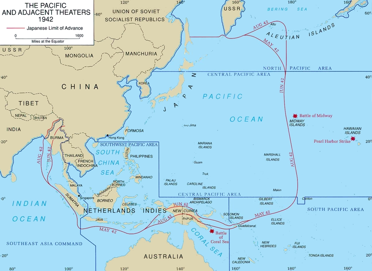 AsiaticPacific Theater Wikipedia - West pacific islands map 1998