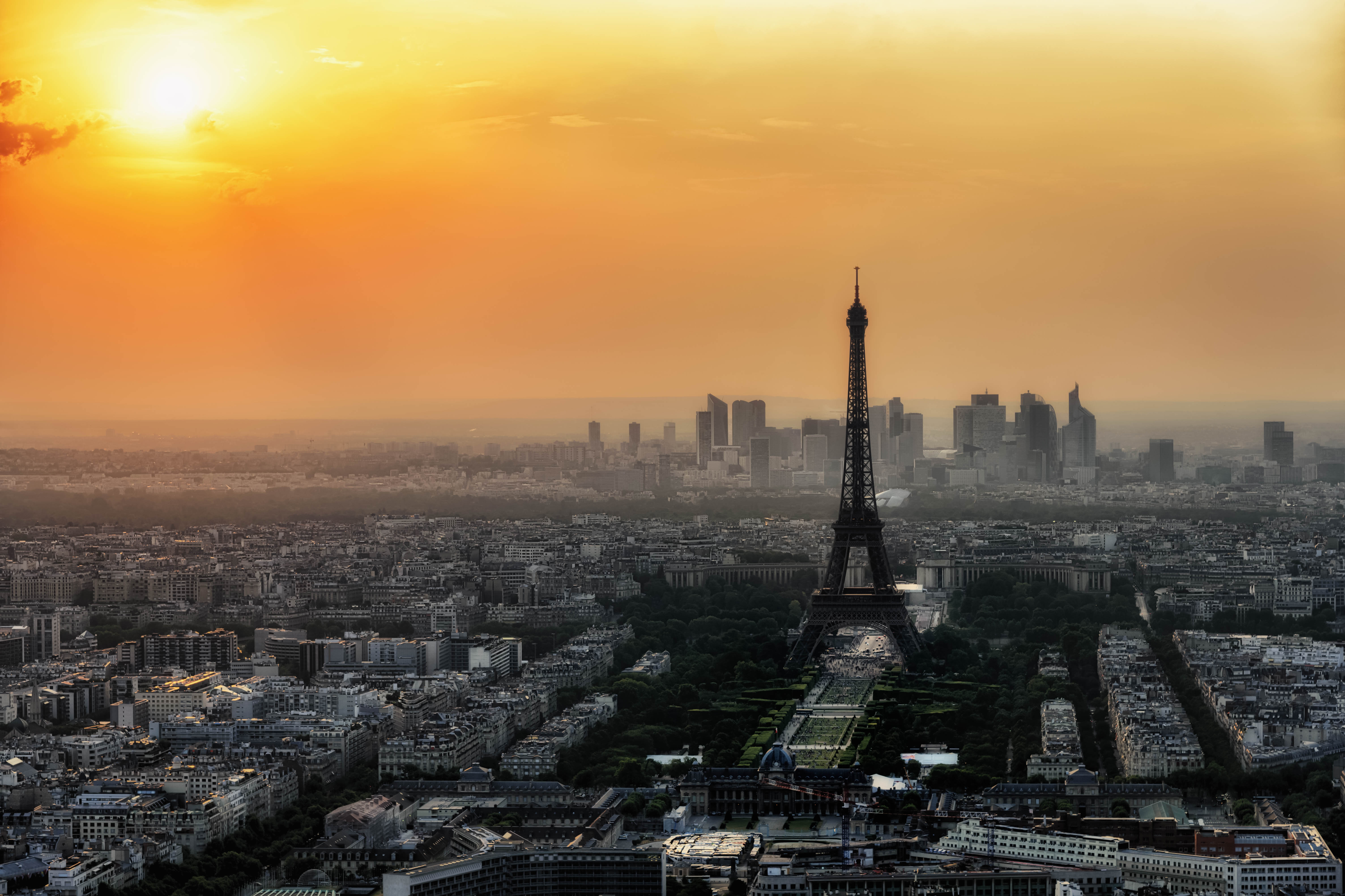 File:Paris skyline from the observation deck of the Montparnasse tower ... Paris