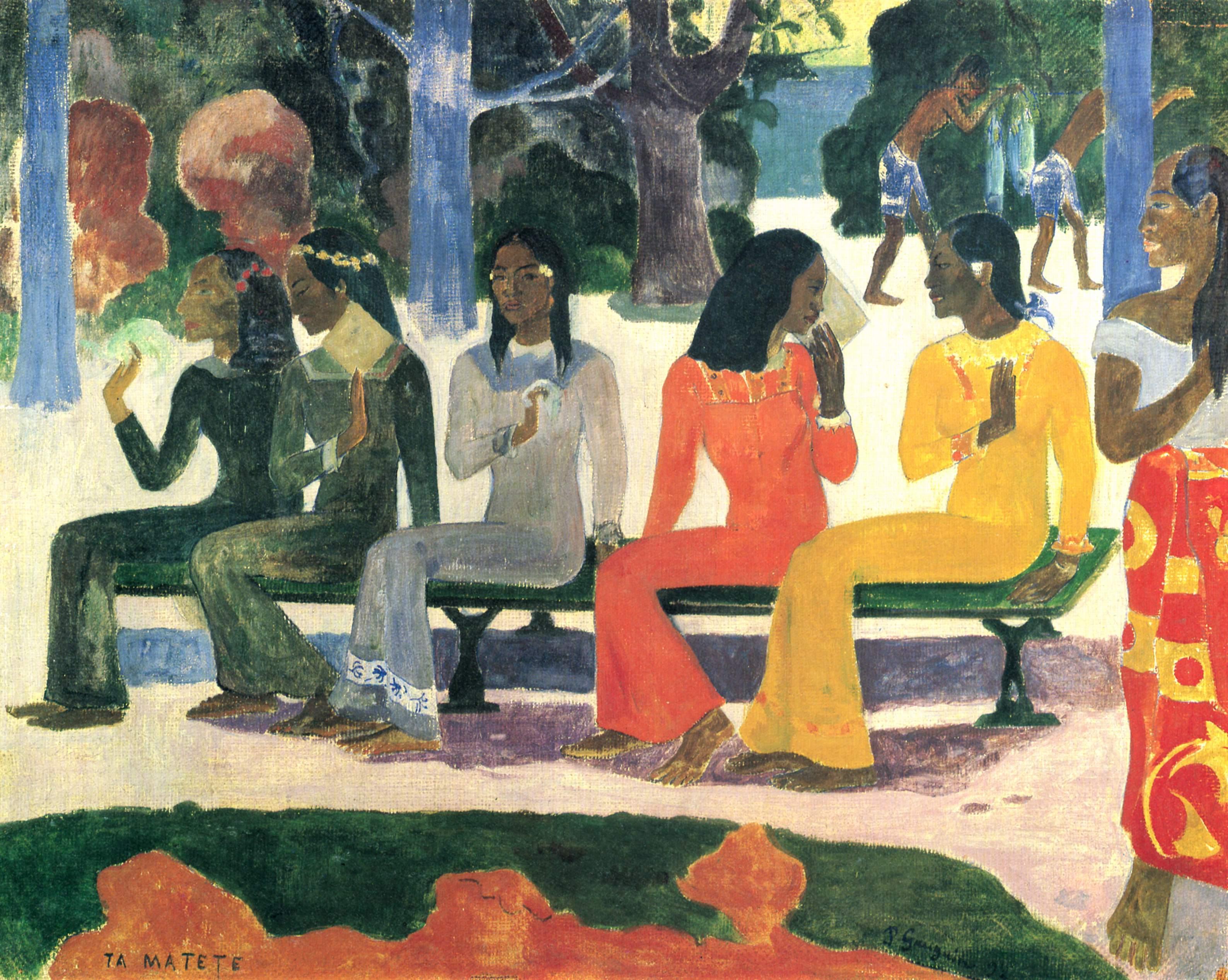 File paul gauguin wikimedia commons for Peinture mural original