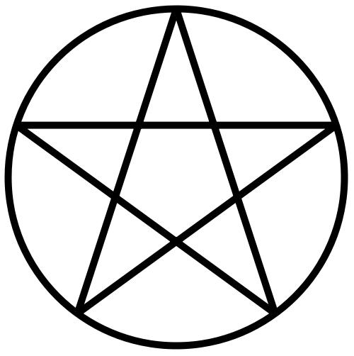 English: A circumscribed pentagram.