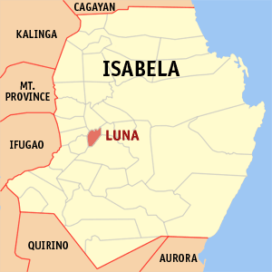 Map of Isabela showing the location of Luna