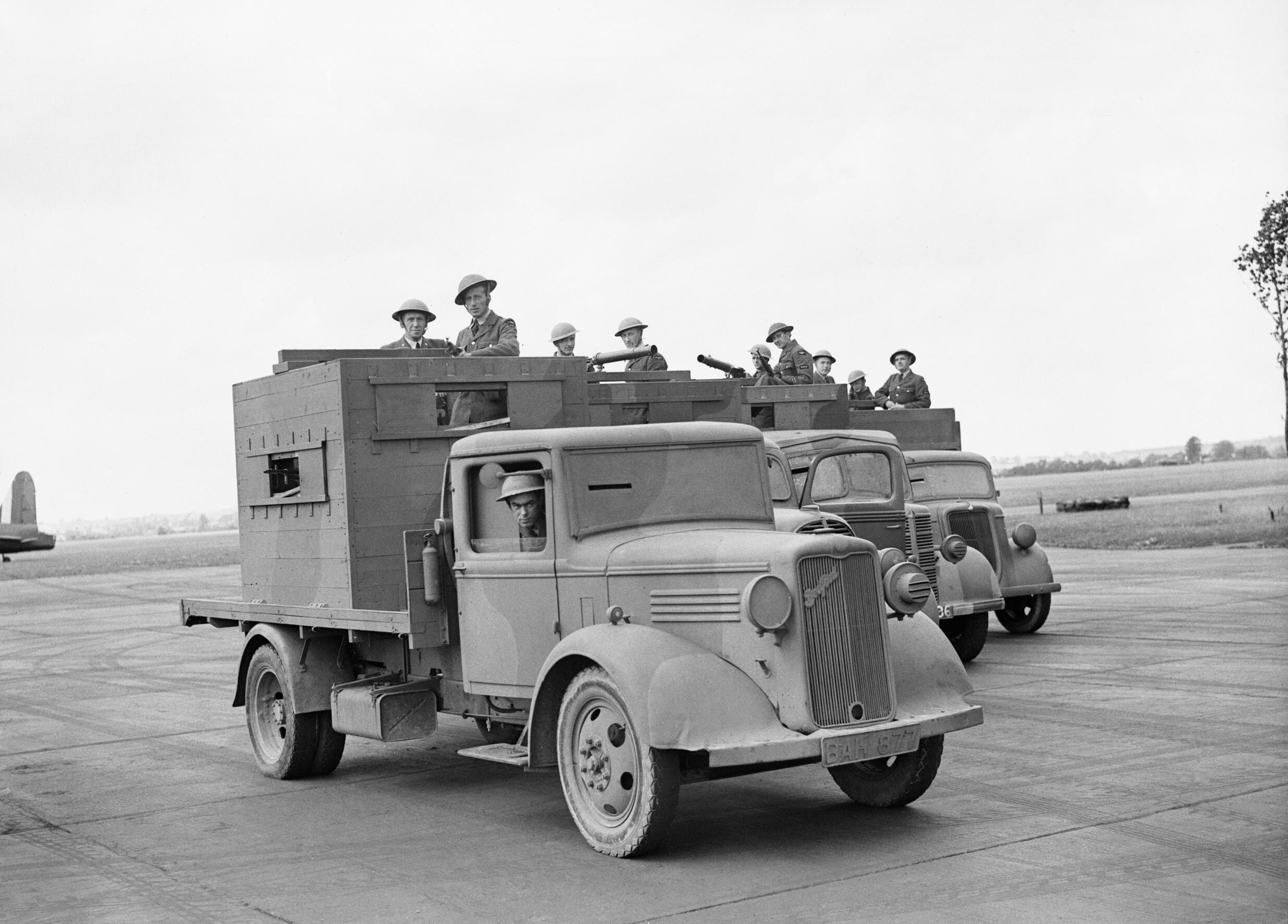 File Raf Personnel Man Armoured Trucks Used For Airfield
