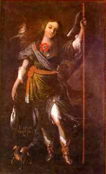English: Sopo archangel of Rafael, painted c. 1650