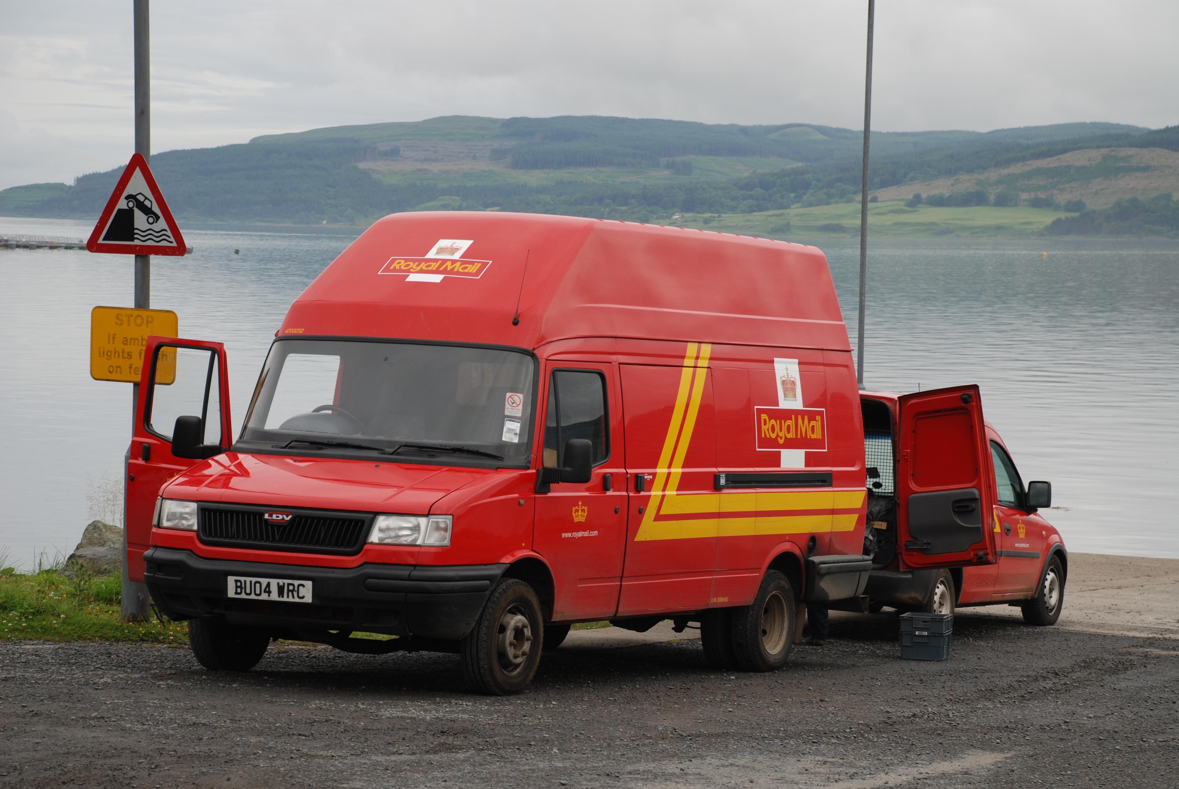 11de64965b6bf2 File Royal Mail vans at Fishnish