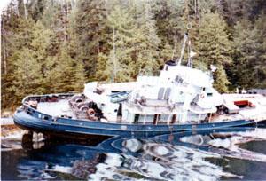 M.V. Samarkanda at Sydney Inlet, Vancouver Isl...