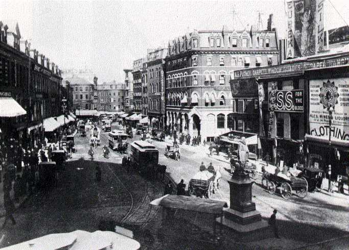 Scollay Square, Boston in the 1880s