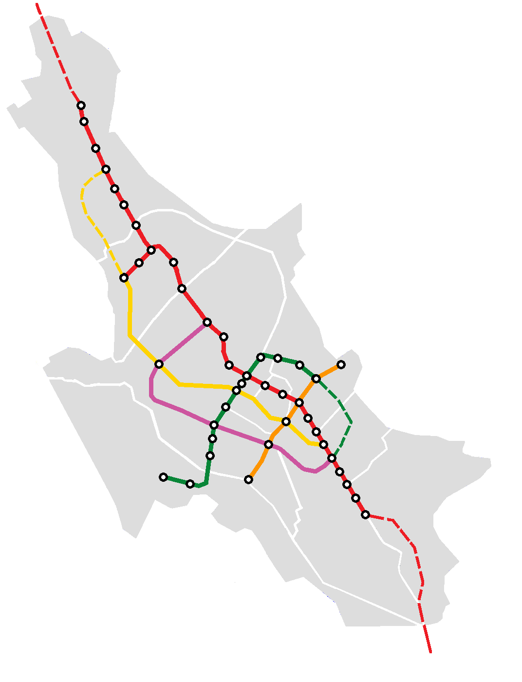 Shiraz Metro รถไฟใต้ดิน ชีราซ