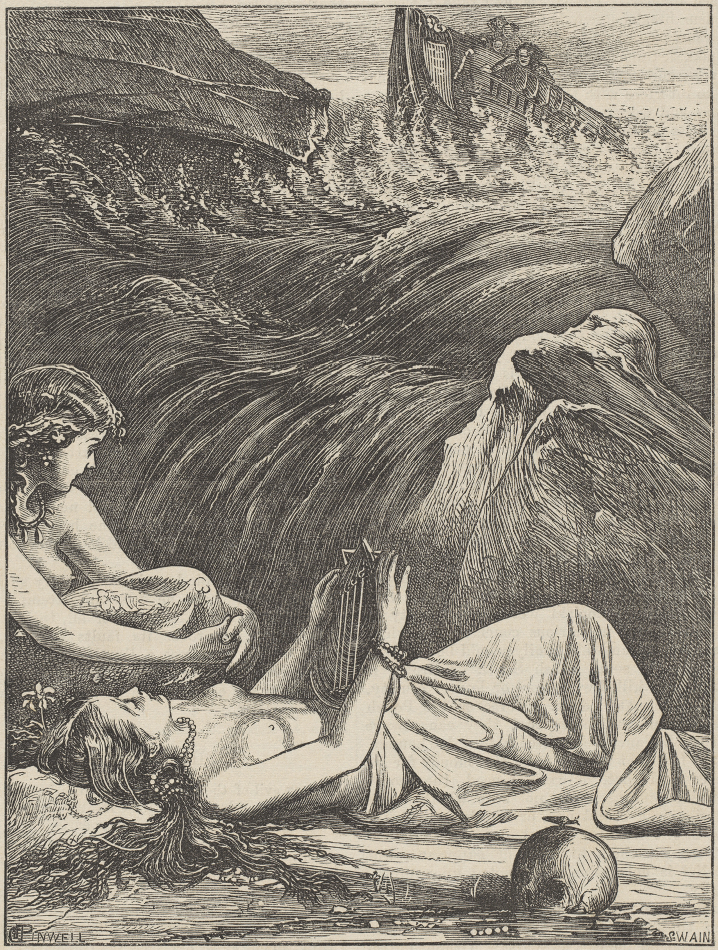 A more traditional Victorian illustration of the Greek siren.