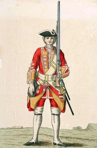 Soldier of the 3rd Foot in 1742 Soldier of 3rd regiment 1742.jpg