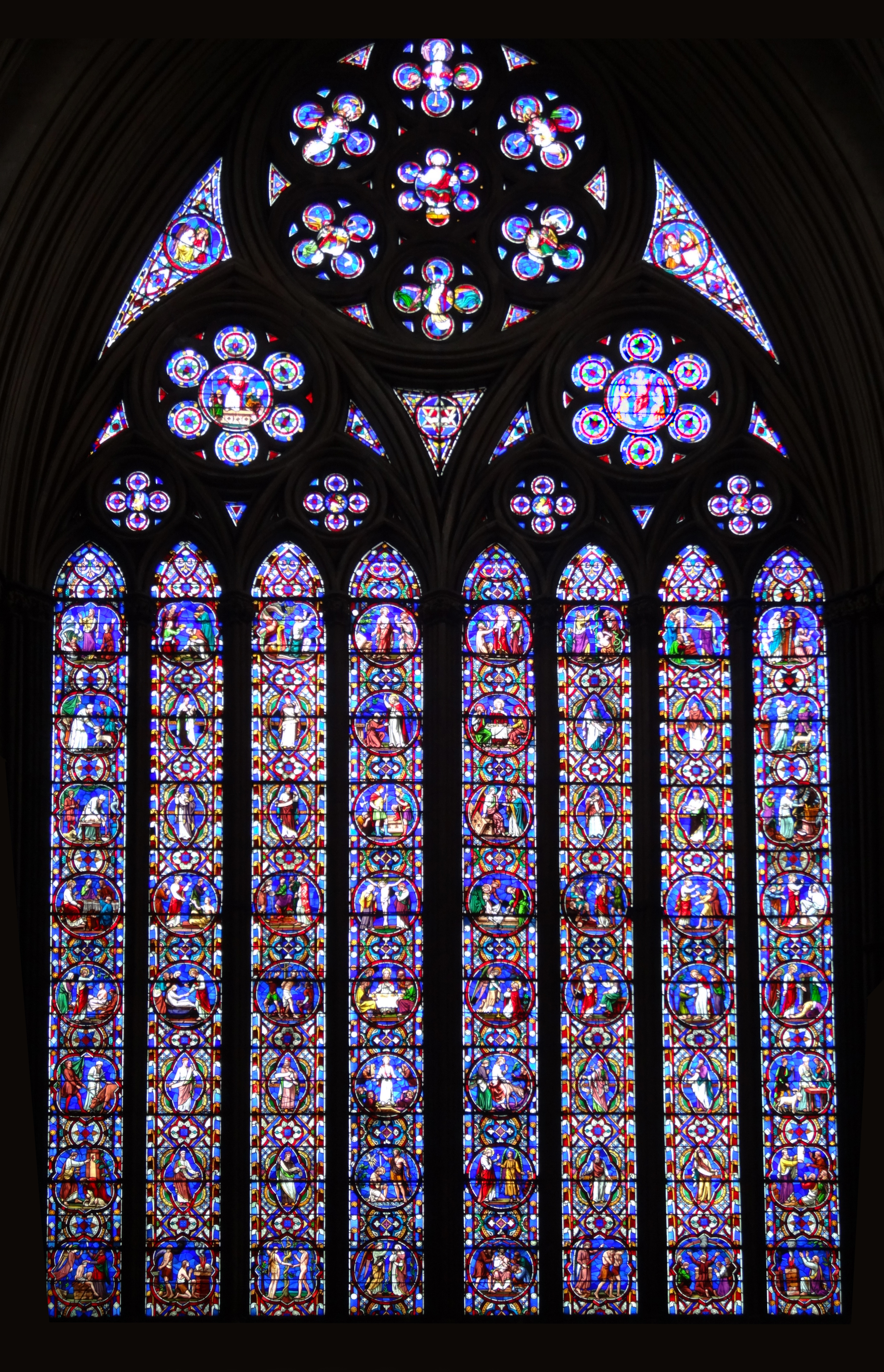 File Stained Glass Windows In Lincoln Cathedral 07 East