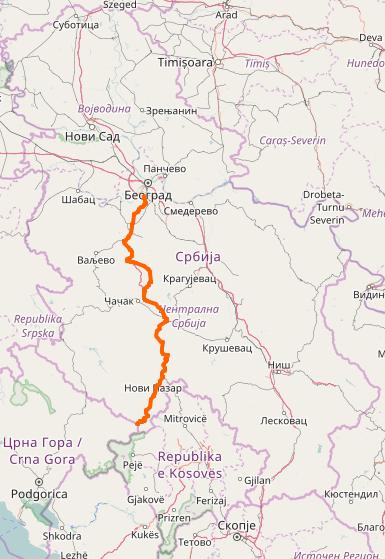 ibarska magistrala mapa Državni put 22 — Vikipedija, slobodna enciklopedija ibarska magistrala mapa