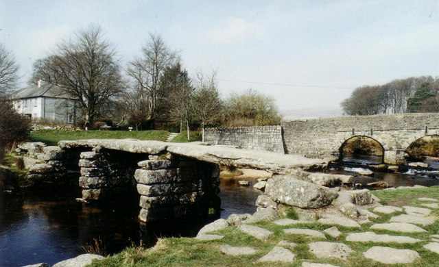 The Postbridge 'clapper' - geograph.org.uk - 355114