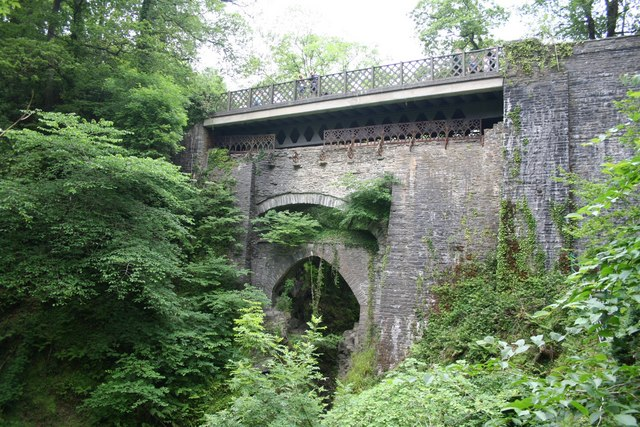 The Three Bridges at Devil's Bridge - geograph.org.uk - 196949